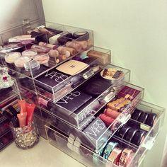 acrylic organizer-i need this storage in my life
