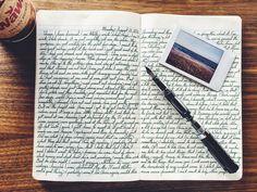 handwriting and journal image