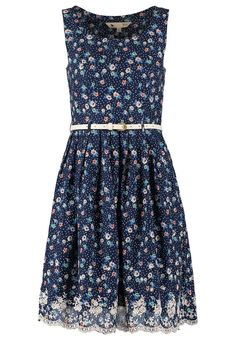 Yumi - dress, lace, blue belt, summer!
