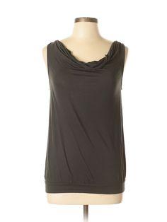 Ann Taylor LOFT Sleeveless Top: Size 8.00 Gray Women's Tops - $12.99