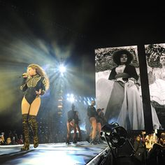 Beyonce performs during the Formation World Tour in Miami, Florida. | essence.com