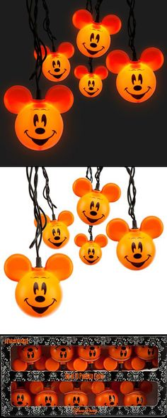 the mickey mouse halloween lights are once