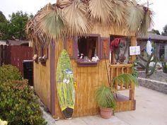 The tiki-bar shed