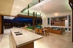 coin salle manger et salon de cette maison moderne