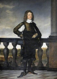 *** Walter Strickland, 1651, Artist: P. Nason - very fashionable long shoes, forked toe
