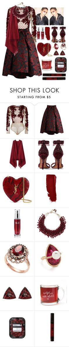 """""""20.12.16 would you hear me ?"""" by hauntingyourdreams ❤ liked on Polyvore featuring Amen, Chicwish, Chicnova Fashion, Givenchy, Yves Saint Laurent, SK-II, Rosantica, Effy Jewelry, Oscar de la Renta and French Connection"""
