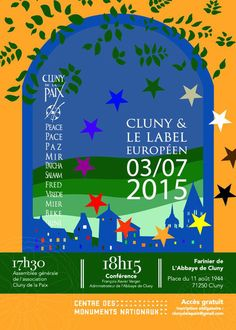 """Conférence """"Cluny et le label européen"""" le 3 juillet 2015 à Cluny."""