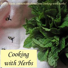 Cooking with Herbs - How to Use Herbs in the Kitchen