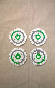 Xbox 360 ring drinks coasters X 4 cork backed. by KimsHandmadeCave, £8.50