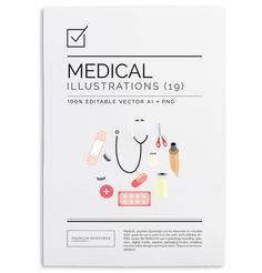 Medical Illustrations & Clip Art Set http://ift.tt/18JIKXT #design
