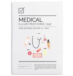 Medical Illustrations & Clip Art Set http://ift.tt/18JIKXT #design