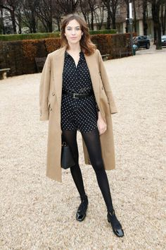 Host Alexa Chung attends the Christian Dior Haute Couture Spring Summer 2018 show as part of Paris Fashion Week on January 22 2018 in Paris France