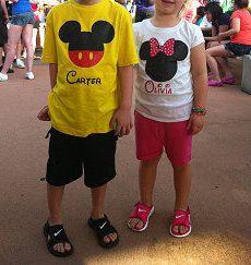 Disney Shirt Mickey Personalized Custom by AreWeThereYetDesigns, $5.00