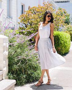 We're loving midi skirts this Summer- www.letote.com Summertime Outfits, Midi Skirts, Stitch Fix Stylist, Style Me, Stylists, Style Inspiration, Fashion, Vestidos, Moda