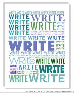 Writing Inspiration - Writers Write - by Kathy Jeffords of the Dreamy Giraffe on Etsy
