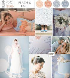 Magnolia Rouge: Board#199: Peach & Lace