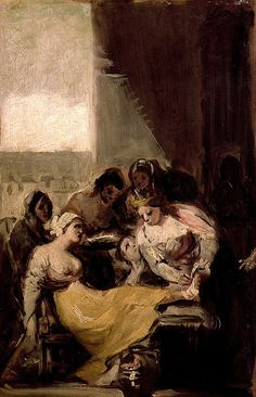 'Saint Isabel of Portugal Healing the Wounds of a Sick Woman by Francisco Goya' by classicartcache Francisco Goya, Spanish Painters, Spanish Artists, Dark Paintings, Google Art Project, Christian Shirts, Small Canvas, Portraits, Aragon