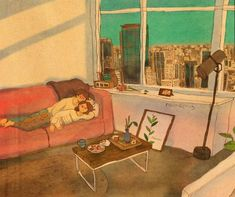 We lay down and watched the TV on the weekend. Cute Couple Drawings, Cute Couple Art, Cute Couples, Anime Couples, Cute Wallpaper Backgrounds, Love Wallpaper, Cute Wallpapers, Couple Illustration, Illustration Art