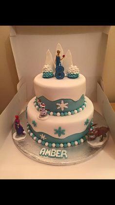 Frozen cake - Frozen party ideas