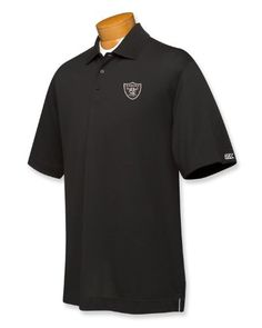 NFL Oakland Raiders Men's B and T DryTec Championship Polo Shirt by Cutter & Buck. $36.67. Classic polo styling with a moisture-wicking finish creates a shirt of understated style and performance. Performance functions aside, the polo is also fashionable with open half sleeves, double-faced collar, three-button placket and straight bottom with side vents. Silver Cutter & Buck pennant embroidery on the left sleeve. Imported.