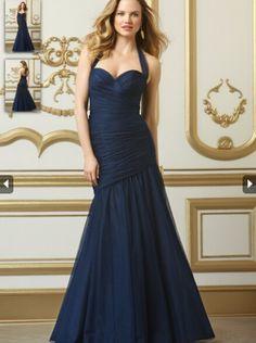 2015 Halter Top Long Bridesmaid Dress WTOO 501