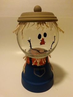 scarecrow claypot candy jar - Google Search