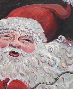 Santa Claus by Nadine Rippelmeyer. www.nadinerippelmeyerart.com