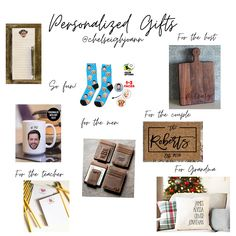 Personalized Gift Guide Thoughtful Gifts, More Fun, Happy Holidays, Gift Guide, Personalized Gifts, Etsy Shop, Make It Yourself, Gift Ideas, Small Businesses