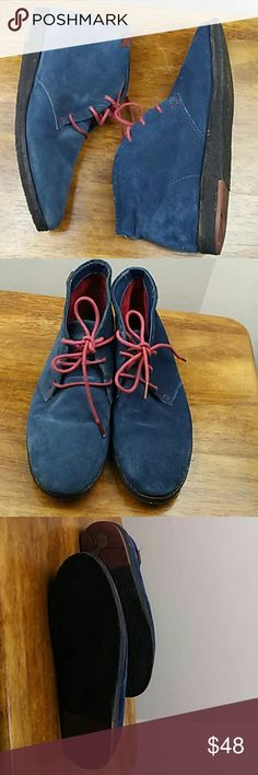 Camper women's blue suede boots Sz 39 Used in good condition. Camper Shoes Lace Up Boots
