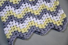 the kc experience: Granny Ripple Baby Afghan
