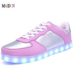 Remote Control Led Shoes Womens Pink Color High Top Shoes With Usb Charging Lace Up Luminous Casual Neon Dancing Party Sneakers Shoes