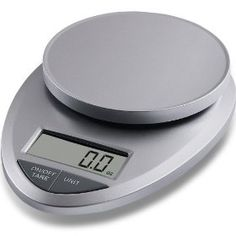 This kitchen scale is perfect. It's very small and lightweight, so it's easy to store. It's easy to operate and allows you to change the type of measurement and add a tare weight also. Highly recommend. $25.00 http://amzn.to/xfFAAr