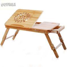 46.13$  Watch now - SUFEILE 1PC Portable folding laptop desk High - grade bamboo computer desk College students study desk S5D5  #shopstyle