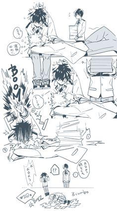 Boku no Hero Academia || Midoriya Izuku, Katsuki Bakugou, Todoroki Shouto.<< x'D Textbooks-
