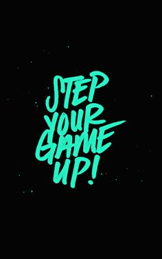 Lettering inspiration—Set you Game Up! handwriting lettering