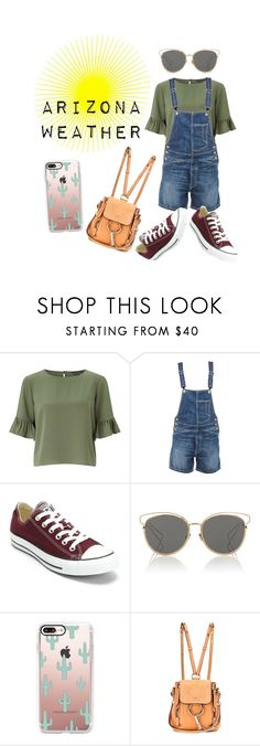 """Arizona Weather"" by ruffledew ❤ liked on Polyvore featuring Miss Selfridge, Dondup, Converse, Christian Dior, Casetify and Chloé"
