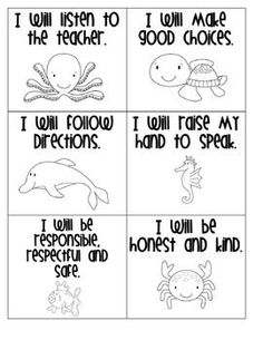 Classroom Rules for an Ocean Themed   Classroom...could be good to tape one to a students desk as a constant   reminder....might need these this year.