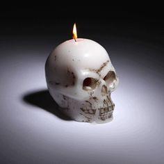 ThinkGeek :: Bleeding Skull Candle