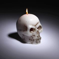 Bleeding Skull Candle Oozes Red Wax From Its Eye Sockets