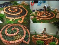 Great idea for a raised flower bed