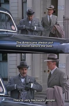 It's a Matter Of Taste #studyabroadproblems Murdoch Mysteries, Best Mysteries, Cozy Mysteries, Agatha Christie's Poirot, Hercule Poirot, Funny Images, Funny Photos, Moustache, Detective
