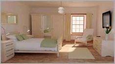 ตกแต่งด้วยสีขาว สีเขียว และไม้ กลิ่นอายแบบเกาหลีมาเต็มเลยค่ะ Minimal Bedroom, Modern Bedroom, Bed Room, Minimalism, Furniture, Home Decor, Dormitory, Bedroom Modern, Decoration Home