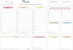 Mémo pour se souvenir de ses mots de passe à imprimer    La liste pour préparer ses vacances à imprimer    L'organisateur du mois    source  Mon planning de nettoyage    source