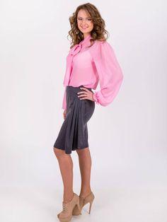 Grey pencil jersey skirt, high waist casual skirt, ruffle knee length skirts, business stretchy skirt fitted skirt for work Fitted Skirt, Gray Skirt, Pencil Skirt Outfits, Jersey Skirt, Work Skirts, Bow Blouse, Stylish Dresses, Secretary, High Waisted Skirt