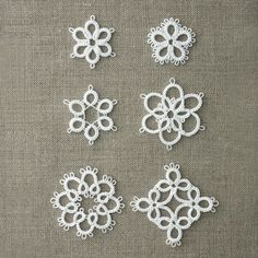 Tatting Lace 6 Patterns for The Beginner Type2 Japan Clover Motif Instructions | eBay