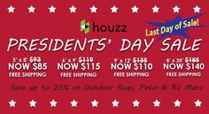 Presidents Day Sale, Begonia, Rv Living, Outdoor Area Rugs, Houzz, Patio, Link, Shop, Photos