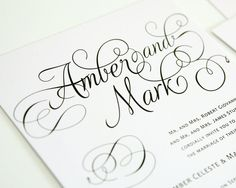 Romantic Wedding Invitation Set in Black and by shineinvitations, $6.50