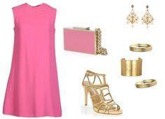 Tres looks con vestido rosa