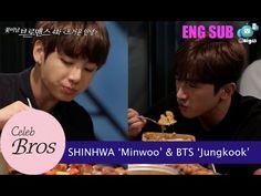 "Shinhwa Minwoo & BTS Jungkook, Celeb Bros S8 EP4 ""Passionate Farewell"" ❤ #BTS #방탄소년단"