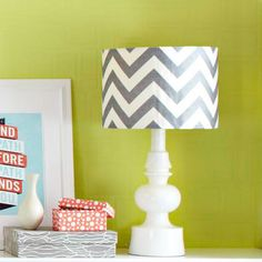 chevron! Here's how to make this stylish lampshade: http://www.bhg.com/decorating/do-it-yourself/fabric-paper-projects/diy-fabric-lampshade/?socsrc=bhgpin061212